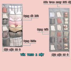 Túi treo đựng đồ lót và tất 2 mặt nhiều ngăn, túi treo đựng đồ đa năng, túi đựng quần áo, đồ dùng tiện ích (MS03), Huy Linh