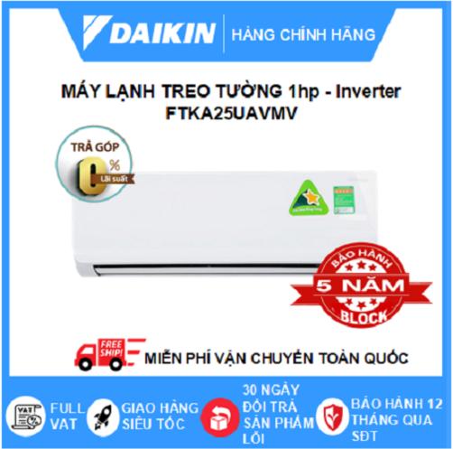 Máy Lạnh Treo Tường FTKA25UAVMV (1hp) – Daikin 9000btu Inverter R32 – Hàng chính hãng – Điện máy SAPHO