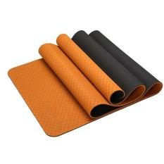 Thảm tập yoga tpe cao cấp 2 lớp dày 6mm kèm túi đeo, chất liệu an toàn khi tiếp xúc với da, tuyệt đối an toàn kể cả cho trẻ nhỏ và phụ nữ mang thai