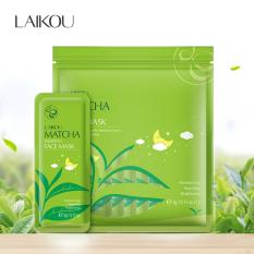 [Túi 15 miếng] Mặt nạ dưỡng da trà xanh LAIKOU dưỡng ẩm và chống lão hóa mặt nạ ngủ matcha mặt nạ nội địa Trung mask XP-MN161