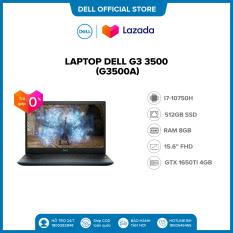 Trả góp 0%  FREESHIP   Laptop Dell Gaming G3 3500 (G3500A ) Core i7 10750H / 15.6inch-120Hz FullHD / Ram 8GB(Còn 1 slot) / 512GB SSD Card Màn Hình NVIDIA GTX1650Ti 4G GDDR6 / Win 10 Bản Quyền / Bàn Phím Có Đèn/ Black