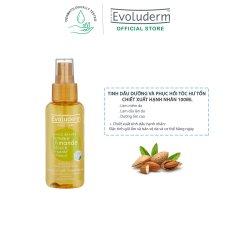 Tinh dầu dưỡng và phục hồi tóc hư tổn Evoluderm chiết xuất hạnh nhân 100ml