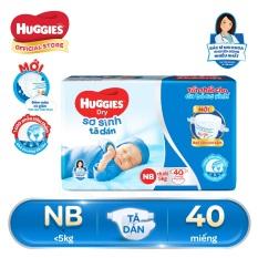 Tã/Bỉm dán sơ sinh Huggies NB40 (dưới 5kg) – Gói 40 miếng