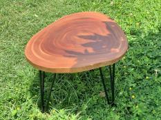 Bàn cà phê, bàn trà, bàn sofa gỗ xà cừ nguyên tấm 55-60cm, dày 3-3.5cm, cao 40cm
