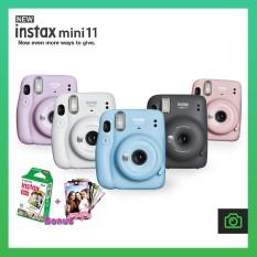 Máy ảnh chụp lấy ngay Fujifilm Instax Mini 11 – Chính Hãng – Tặng kèm một hộp Film & 10 Tấm Skin Dán Viền