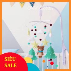"""Treo nôi cũi mẫu """"cây thông xanh"""" cho bé sơ sinh 0 – 6 tháng tuổi hàng handmade chất lượng cao, may tỉ mỉ"""