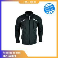 áo khoác chống nước nam zona house màu đen trắng vải polyeste phong cách mạnh mẽ có 8 tính năng tiện lợi