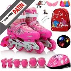 Gia Giay Batin, Giày Patin Trẻ Em Chống Trẹo Chân Tặng Kèm Mũ Và Đồ Bảo Hộ Bảo Hành 1 Đổi 1 Trong 12 Tháng