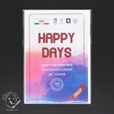 Xấp giấy Happy A6 dạng postcard, 1 xấp 10 tờ