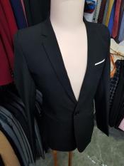 Áo vest nam màu đen ôm body mẫu trơn đơn giản