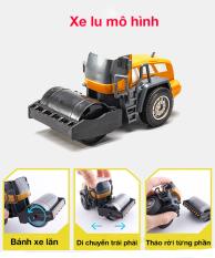 Xe đồ chơi cho bé mô hình xe lu chất liệu nhựa an toàn, chi tiết sắc sảo, bền đẹp)