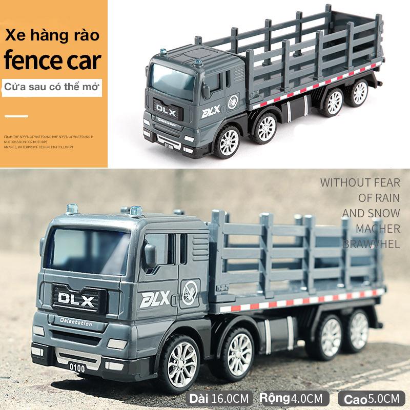 Xe đồ chơi mô hình xe tải hàng rào chở gia súc, nhựa an toàn chống rơi vỡ khi va...