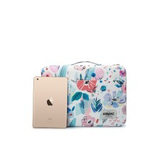Túi Xách Cho Macbook – Laptop 11/12/13/15inch Kinmac – Hoa Trắng