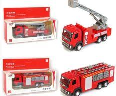 Mô hình xe cứu hỏa, xe tải bằng hợp kim kết hợp nhựa