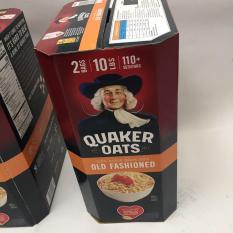 [Mẫu Mới] Thùng Yến Mạch Quaker Oats Mỹ 4.53kg