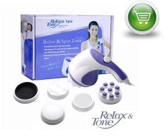 Máy Massage cầm tay đánh tan mỡ bụng Relax Spin Tone (3 đầu massage)
