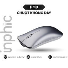 Chuột không dây Inphic PM9 phong cách Macbook có thể sạc lại dùng cho tất cả các dòng máy tính, laptop, smart TV, TV box… – Hàng Chính Hãng