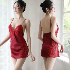 Váy/Đầm Ngủ Pha Ren Eo 5011 Quý Phái -Tặng Chíp Lọt Khe