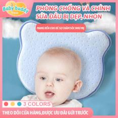 Gối thoải mái phù hợp cho trẻ sơ sinh 0-1 tuổi , chống lệch đầu bé sơ sinh, gối chỉnh đầu thoáng khí loại không gianbbốn mùa