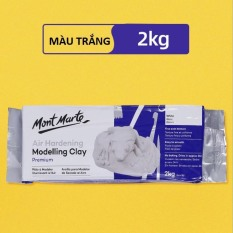 Đất nặn   Đất set tự khô  Tạo hình  Điêu khắc  Handmade   Air Hardening Modelling Clay Mont Marte 2kg