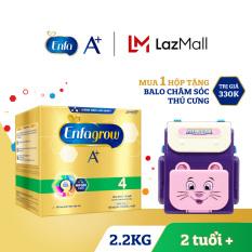 Hộp sữa bột Enfagrow A+ 4 2.2kg (4 túi thiếc 550g) + Tặng 1 đồ chơi Balo chăm sóc thú cưng