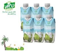 Combo 5 hộp 330ml Nước dừa Xiêm Vico Fresh . Mua 4 combo tặng 1 bình thủy tinh VICO FRESH