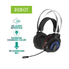 Tai nghe chụp tai GAMING ROBOT RH-G20 âm thanh 3D chống ồn Microphone 360 độ đèn LED 7 màu l HÀNG CHÍNH HÃNG