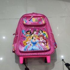 Balo kéo cho học sinh cấp 1 -balo bé gái có cần kéo hình công chúa elsa