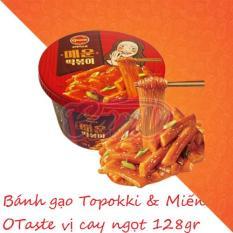 Bánh gạo Hàn Quốc Topokki & Miến Otaste Jajang cay ngọt 128gr