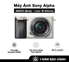 [HÀNG CHÍNH HÃNG – TRẢ GÓP 0%] Máy Ảnh Sony Alpha A6000 + 16-50mm Bộ xử lý hình ảnh: BIONZ X Cảm biến: APS HD (kèm thẻ nhớ và túi máy ảnh)