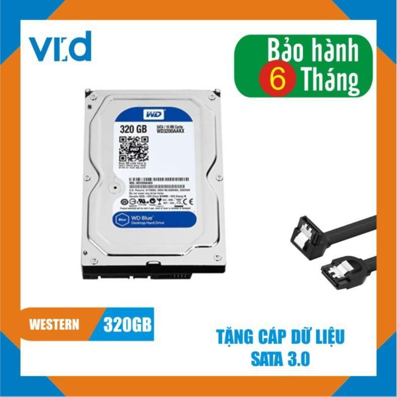 Ổ cứng HDD WD Blue 320GB - Nhập khẩu từ Nhật Bản, Hàn Quốc - Bảo hành chính hãng 6...