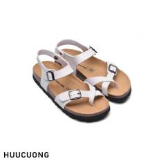 Sandal xỏ trắng ngón đế trấu