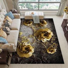 Thảm BALI trải sàn loại 1m6 x2m3 mẫu hoa vàng đồng