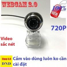Webcam 2.0 chân kẹp dễ để lên màn máy tính 720p tương thích tất cả các loại máy tính hoặc laptop. bảo hành 3 năm chính hãng