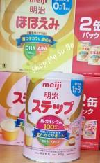 Combo 2 hộp Sữa Nhật Meiji mẫu mới 2021 (cho bé từ 1 tuổi – 3 tuổi). [HÀNG NHẬP KHẨU CHÍNH HÃNG – CÓ TEM PHỤ TIẾNG VIỆT – DATE 2022]. Shop SuBo