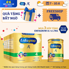 [Mua càng nhiều quà càng khủng+Freeship toàn quốc] Bộ 3 hộp sữa bột Enfagrow A+ 4 (2.2kg – 4 túi thiếc 550g) – Tặng 1 lon Enfagrow A+ 4 1.7kg