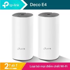 TP-Link Hệ thống Wi-Fi Mesh Cho Gia Đình AC1200 cho độ phủ Wi-Fi tuyệt vời – Deco E4 – Hãng phân phối chính thức