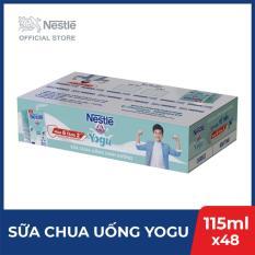 Thùng 48 Hộp Sữa Chua Uống Dinh Dưỡng Nestlé Yogu – 6 lốc x 8 hộp x 115ml