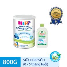 [CÓ QUÀ TẶNG] Combo Sữa HiPP 1 ORGANIC COMBIOTIC 800g và Nước rửa đồ dùng cho bé Frosch (500ml) – Nhập khẩu từ Đức