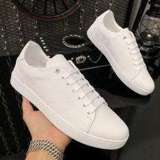 Giày thể thao nam da nhập Poly Synthetic thiết kế vân nổi thời trang LC19