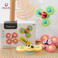 Đồ chơi trẻ em set 3 chong chóng hình cánh hoa và động vật siêu dễ thương, nhựa ABS dày dặn, cao cấp (có miếng hút dán) dán được lên các mặt phẳng cho bé từ 6 tháng tuổi trở lên