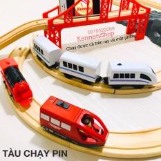 Đồ chơi xe lửa xe điện chạy trên nền phẳng hoặc ray cho bé