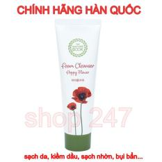 Sữa rửa mặt Hoa Anh Tuc Foam Cleanser Poppy Flower 120ml sạch nhờn, trắng da