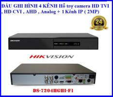 Đầu ghi hình hikvision DS-7204HGHI-F1, Hỗ trợ camera HD TVI , HD CVI , AHD , Analog ( 4 kênh ) + 1 Kênh IP