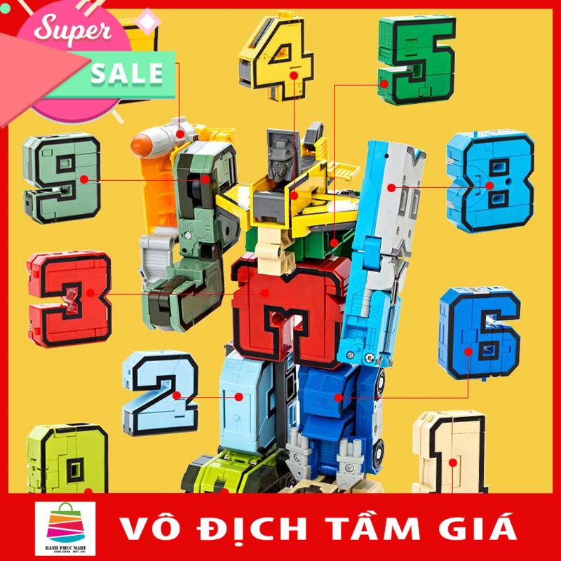 Đồ Chơi Lắp Ghép Bộ Chữ Số Biến Hình Từ 1 2 3 4 5 6 7 8 9 Thành Robot LEGOSTYLE