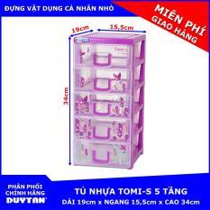 Tủ nhựa Duy Tân TOMI-S 5 tầng