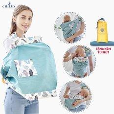 Khăn choàng che bé bú, địu vải em bé, đa năng cho mẹ sử dụng tiện lợi. Tặng kèm túi rút đựng mang theo