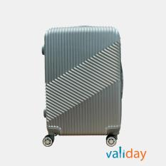 Vali kéo du lịch Validay size 24 inches màu xám ánh kim 803 – 24