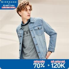 Áo Khoác Jeans Giordano Dài Tay Cho Nam Phong Cách Trẻ Trung Bụi Bặm – Hàng Xịn 01070098