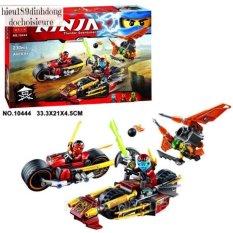 Lắp ráp xếp hình 10444 : Đội ninja Truy Đuổi Bằng Mô Tô Địa Hình 230 mảnh